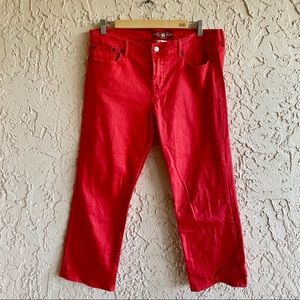 LUCKY BRAND JEANS Sweet n' Crop Red Jeans (14/32)